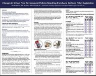 Changes in School Food Environment Policies Resulting from Local Wellness Policy Legislation